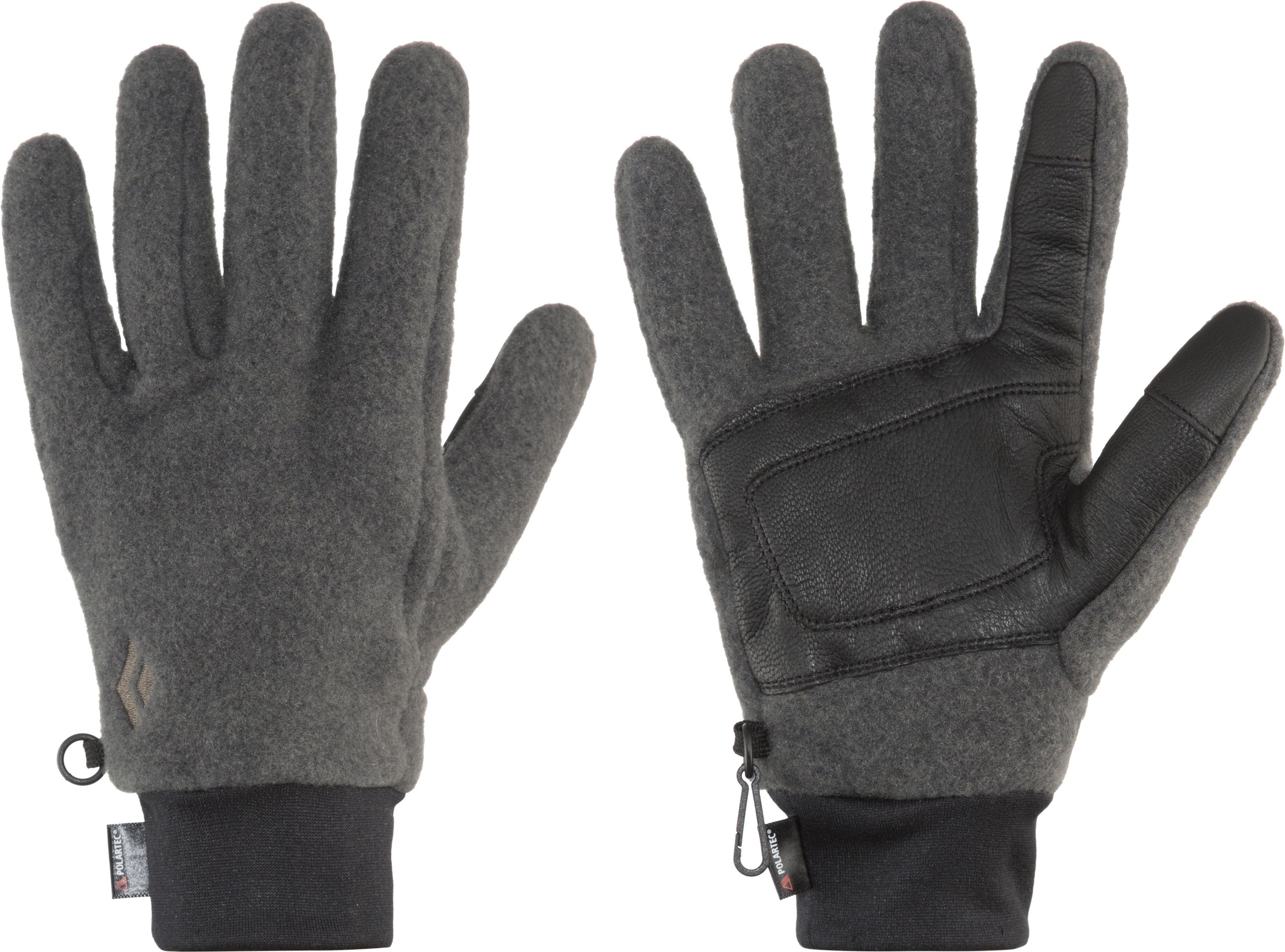 Black Diamond Heavyweight Wooltech Gloves grey black at Addnature.co.uk cd189f4fb05